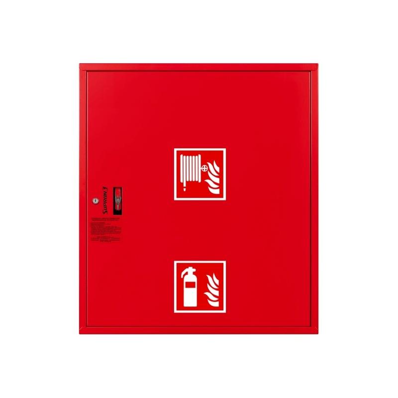 Hydrant wewnętrzny HW25-ZGW-30-UNI250 zawieszany z miejscem na gaśnicę pod