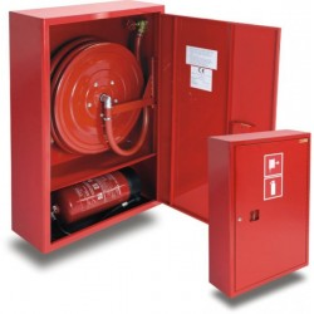 hydrant wewnętrzny 25H+G-1050-B.30 zawieszany z miejscem na gaśnicę pod