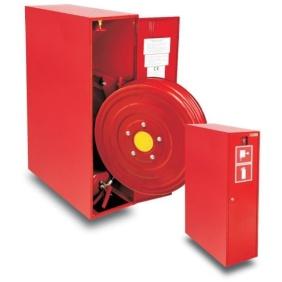Hydrant wewnętrzny 25HP+GP-805-W.W.30 (ZAW.) zawieszany, wykonanie boczne z gaśnicą i wysuwanym bębnem