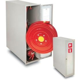 Hydrant wewnętrzny 25HP+GP-805-W.W.30/S1 wnękowy, wykonanie boczne z gasnicą pod i wysuwanym bębnem