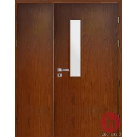 Drzwi drewniane EIS30 PLUS W1S dwuskrzydłowe dymoszczelne
