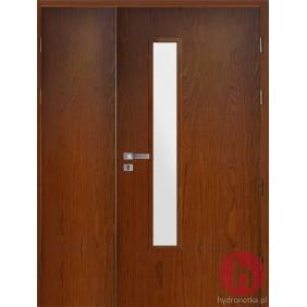 Drzwi drewniane EIS30 PLUS W2S dwuskrzydłowe dymoszczelne