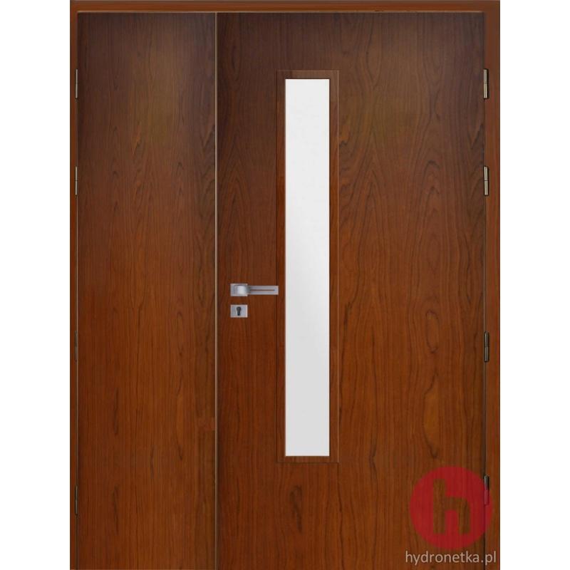 drzwi drewniane EI30 PLUS W2S dwuskrzydłowe