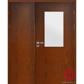 Drzwi drewniane EIS30 PLUS W3S dwuskrzydłowe dymoszczelne
