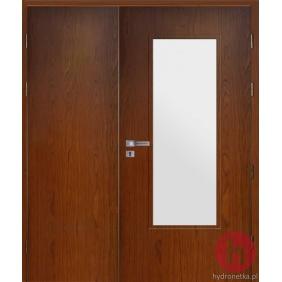 Drzwi drewniane EIS30 PLUS W4S dwuskrzydłowe dymoszczelne