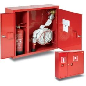 Hydrant wewnętrzny H+G-650.15 zawieszany z miejscem na gaśnicę z boku