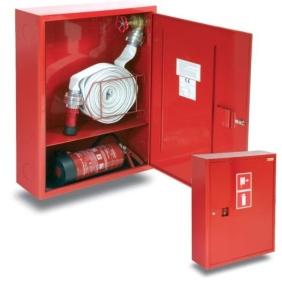 Hydrant wewnętrzny H+G-650.15(900) zawieszany z miejscem na gaśnicę pod