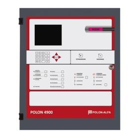 Centrala sygnalizacji pożarowej POLON 4900S (4x127 adresów), wersja światłowodowa