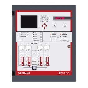 Centrala sterująca gaszeniem POLON 4500S-2 (4x127 adresów), wersja sieciowa światłowodowa, 2 strefy gaszenia