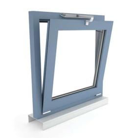 Okno oddymiające NSHEV uchylne, otwierane do wewnątrz