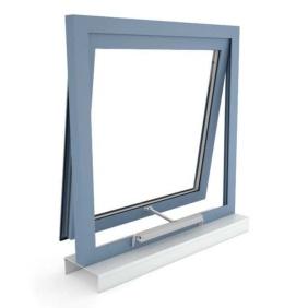 Okno oddymiające NSHEV odchylne, otwierane na zewnątrz