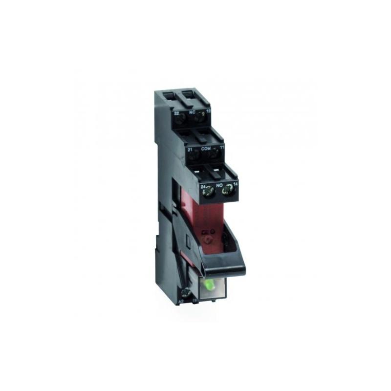 Przekaźnik bezpotencjałowy NO/NC do zdalnej sygnalizacji alarmu lub uszkodzenia, na szynę OMEGA TR 43-K