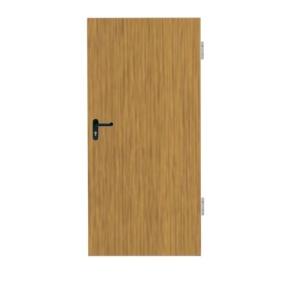 Drzwi stalowe ppoż jednoskrzydłowe EI30 GAMACOLOR DĄB