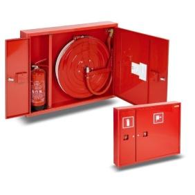 Hydrant wewnętrzny 25H+G-805-B.30-180 zawieszany, smukły, z miejscem na gaśnicę z boku