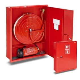 Hydrant wewnętrzny 25HP+GP-1050-B.20-180 wnękowy, smukły, z miejscem na gaśnicę pod