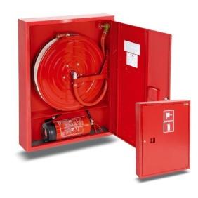 Hydrant wewnętrzny 25H+G-1050-B.30-180 zawieszany, smukły, z miejscem na gaśnicę pod